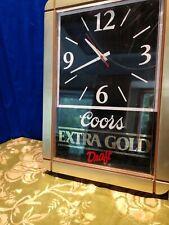 Coors Clock Extra Gold Draft