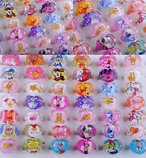 50PC Wholesale Lots Jewelry Mixed Lots Resin Lucite Children/Kid Rings Gift 2018