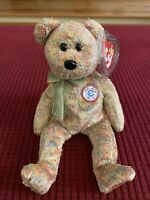 TY Beanie Baby SPECKLES the e-Bear New W Tag Protector Mint Retired