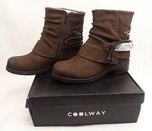 Coolway Womens Brown Bendita Boots Sz 38 7