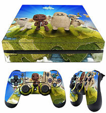 PS4 Slim Peau Little Big Planet 3 Sackboy ODDSOCK autocollants + 2 x Pad Skins NEUF