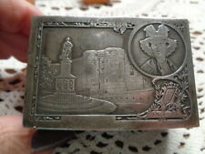 "Antique Silver Box Angers 3 X 2 X 1 & 1/4"" Le Roi Rene Lechatrau (65)"