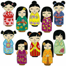 CHINA DOLLS * Machine Applique Embroidery Patterns * 10 Designs