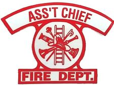 ASSISTANT FIRE CHIEF Highly Reflective Fire Helmet or  Vehicle DECAL-ASS'T CHIEF