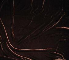 "Silk VELVET Fabric CHOCOLATE BROWN fat 1/4 18""x22"" remnant"