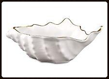 Schale Schälchen Dekoschale Fisch Maritim weiß silber Keramik