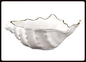 Wunderschöne keramik Schale Muschel Goldlegiert Handarbeit aus Italien