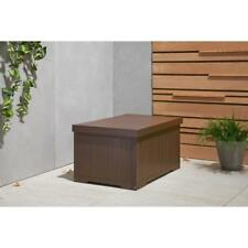 Deck Box 70 Gal. Polystyrene Dent Resistant in Espresso Brown with Raised Bottom