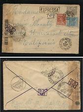 Brazil censor cover to US  loads  of  markings   1944          KEL0413