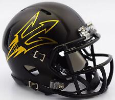 Arizona State Sun Devils Riddell NCAA Satin Black Revolution SPEED Mini Helmet