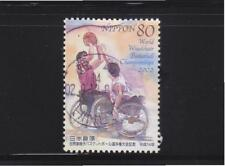 JAPAN 2002 WORLD WHEELCHAIR BASKETBALL CHAMPIONSHIPS COMP. SET OF 1 STAMP USED