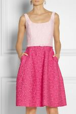 OSCAR DE LA RENTA Two Tone Pink Brocade Dress US 2 UK 8 RRP £2k