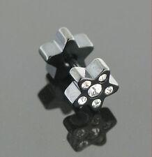 FakePiercing Plug STERN Kristalle Ohrstecker Ohrring passend für jedes Ohrloch