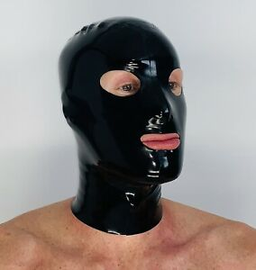 Hood Mask Cosplay Rear Zipper 0.4 mil 100% Latex Rubber
