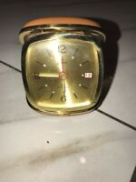 Vintage Endura Travel Alarm Clock In Clamshell Case Made In Japan