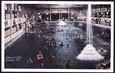 VINTAGE '12 BATH SLIDE POOL AMUSEMENT PARK REDONDO BEACH CALIFORNIA OLD POSTCARD