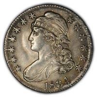 1834 50c Capped Bust Half Dollar - Colorful Toning - NGC UNC Details - SKU-Z1300