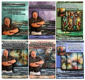 Painting Instruction, Art, How To,DVD set of 6, narrated by Michael Lang