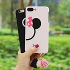 Disney Mickey Minnie Soft TPU Gel Tassels Case Cover for iPhone 6/6S Plus 7 Plus