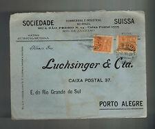 1923 Rio De janeiro Brazil Advertising Cover to Porto Alegre Sociedade Suissa