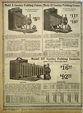 1917 Conley Folding Cameras Model X Xi Xv Sears Catalog Page Vintage Print Ad