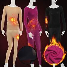 Womens Ladies Winter Warm Soft Shaping Thermal Tops Long Pants Underwear Set