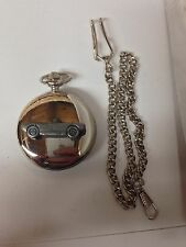 Saab Sonette 1 ref225 Pewter Effect Car on a polished Silver Case Pocket Watch