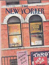 JULY 22 1991 NEW YORKER magazine (UNREAD) PSYCHIC - TARO CARDS - ESP