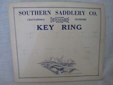 Pos Southern Saddlery Co Western Leather Key Ring point of sale display Nos