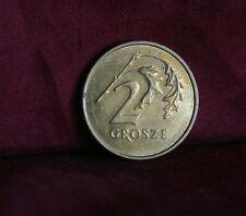 Poland 2 Grosze 2004 Brass World Coin Y277 Polska Eagle with Wings Polish Europe