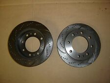 55057DS (REAR 2pcs) Sport Dimpled Slotted Brake Disc Rotor (Hub Hole 4.63 inch)