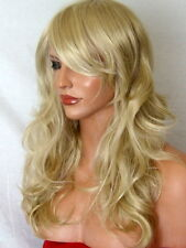 Blonde fashion Wig long curly party women ladies full hair wig ash blonde P22