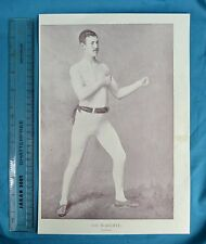 Original 1894 Antique Print Portrait Gallery Of Pugilists Joe McAuliffe Boxer