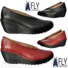 FLY London Wedge 100% Leather Heels for Women