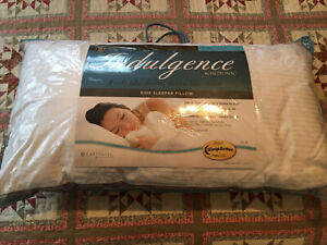 2 Indulgence® by Isotonic® Synthetic Down Alternative King Side Sleeper Pillow
