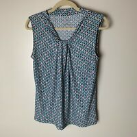 Talbots Women's Sleeveless Top Size Small Casual Work Career Business Blue Pink