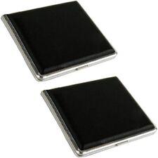2x Elegantes Metall Zigaretten-Etui Zigarettenbox Zigarettenetui 9,8x9,3cm black