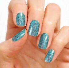 COLOR STREET Nail Polish Strips New BLUE LAGOON GLITTER {Buy 3 Get 1 Free}