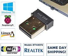 Realtek Mini USB WiFi Wireless N 802.11 Card Network Adapter for Raspberry Pi PC