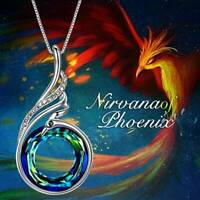 2Colors Women's Nirvana of Phoenix Crystal Pendant Necklace Fashion Jewelry Gift