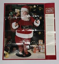 A Limited Edition Coca-Cola Santa Heirloom Collector Doll Poster Size Ad NO Doll
