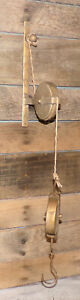 Cast Iron Industrial Pulley Wall Hook Hanger Lantern Plant Home Barn Porch Hook