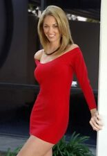sexy Red Stretch Cottom Lycra Minidress/Long Sleeve/Made in usa/m-l/Club/Rave