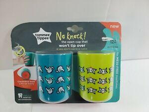 Tommee Tippee 2-Pack No Knock Cups 12+ Months Training Open Cup Won't Tip Over