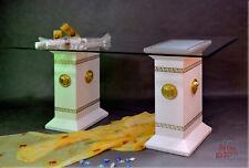 Säulen Esstisch Medusa Wohnzimmertisch Tisch Glastisch Mäander 180 cm