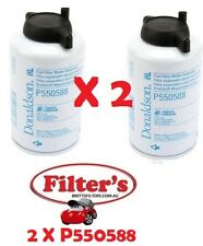 2 x P550588 Fuel Filters for Donaldson P902976 Fuel / Water Separator Kit BRETTS