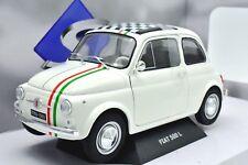 MODELLINO AUTO SCALA 1:18 FIAT 500 L ABARTH DIECAST CAR MODEL SOLIDO COCHE RALLY