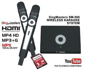 SPANISH KARAOKE Machine,SingMasters Magic Sing,1402 Spanish Songs,2 Wireless Mic