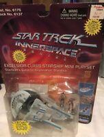 Star Trek Excelsior-Class Starship Mini Playset w/ Riker & LaForge Innerspace