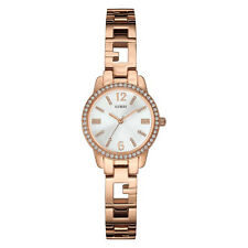NEW GUESS WATCH for Women * Rose Gold Tone G-Link Bracelet w/White Dial U0568L3
